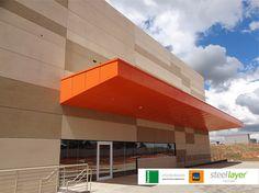 #steellayer #decor #fachada #aco #aço #ambiente #externo #inovacao #inspiracao #impecavel #corporativo #residencial #home #casa #escritorio #empresa #projeto #obras #termoacustico #laranja #orange