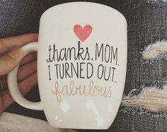 Trendy gifts for mom diy christmas sharpie mugs Birthday Surprise For Mom, Mother Birthday Gifts, Mom Birthday, Birthday Bash, Birthday Presents, Mother Gifts, Birthday Ideas, Birthday Parties, Homemade Gifts