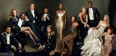 Wow. That's a lot of stunning in one picture. (from L to R: Chiwetel Ejiofor, Julia Roberts, Idris Elba, George Clooney, Michael B. Jordan, Jared Leto, Lupita Nyong'o, Naomie Harris, Brie Larson, Chadwick Boseman, Margot Robbie, and Léa Seydoux)  -- The cover of the Vanity Fair 2014 Hollywood issue.