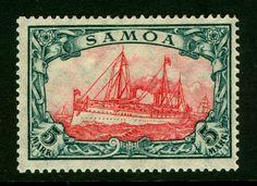 German Colonies - SAMOA 1919 Kaiser's YACHT 5m slate & car Sc# 73 mint MNH   eBay