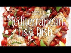 A super-fast and super-tasty way to dress up snoring, boring fish fillets, this mouthwatering skillet recipe works well with just about any type of fish, so use your favorite! Fish Recipes, Seafood Recipes, Bruschetta Toppings, Food Words, Skillet Meals, Fish Dishes, Snoring, Cookbook Recipes, Mediterranean Diet