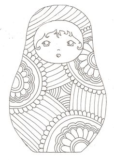 Matryoshka coloriage- Rusia