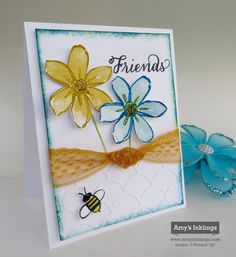 "Garden in Bloom, Striped Scallop Thinlit, Delightful Dijon 1"" Lace Ribbon, Stampin' Up!, Amy Whelan"