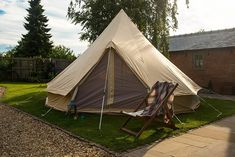 Natural cotton canvas bell tent