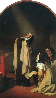 Catholic Priest, Catholic Art, Catholic Saints, Religious Paintings, Religious Art, Rennaissance Art, Saint Teresa Of Avila, Tableaux Vivants, Catholic Memes
