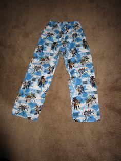 Star Wars Clone Wars PJ Pants Cotton/Poly Child Sz L (8/10) by CreationsbySpike on Etsy