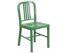 KÄli Industrial Green Galvanized Side Chair