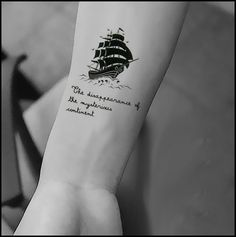 watercolor boat tattoo - Google Search Love the detail and the size