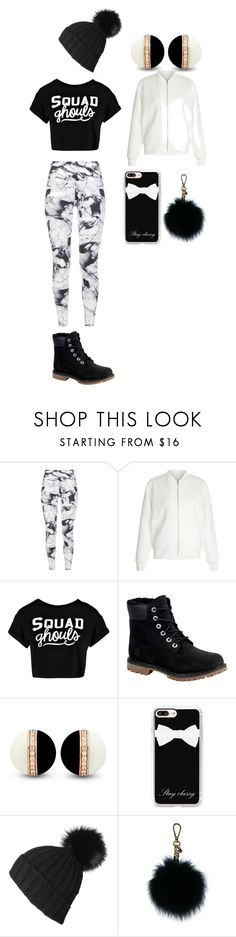"""""""my every day flow"""" by kaliayh-butler on Polyvore featuring Varley, New Look, Boohoo, Timberland, Casetify, Black and MICHAEL Michael Kors"""