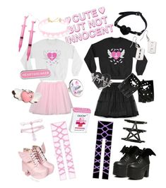 """""""Partners in Crime"""" by amelia4738 on Polyvore featuring Moschino, Tarina Tarantino, Killstar, Hot Topic, Current Mood and Rock Rebel"""