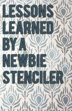 How to stencil like a pro-even if you're a newbie @Kelly Teske Goldsworthy Teske Goldsworthy at View Along the Way shows you how with a little help from Royal Design Studio and our magical stencil cremes!!