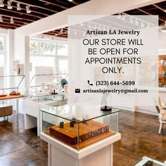 Taking this time into consideration, our store will be open for APPOINTMENTS ONLY until further notice. Thank you for your support and patience during this time. We hope everyone stays safe and healthy! Us Store, Consideration, Appointments, Artisan Jewelry, Patience, Contemporary, Healthy, Home Decor, Decoration Home