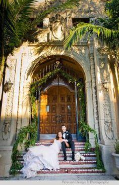 Bride and Groom Portrait Ebell Club Long Beach Wedding www.socalweddingconsultant.com