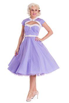 Hey Viv  !  -   Melanie Polka Dot Dress in Lilac
