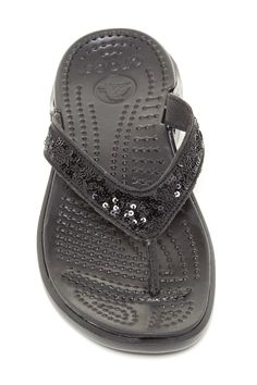 Capri Sequin Flip Flop by Crocs on @HauteLook