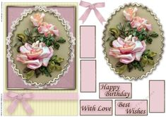 Birthday Floral Quick card by Cassandra Ridgeway Birthday Floral Quick card personal use: Birthday Floral Quick card personal use