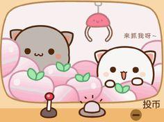 Chibi Cat, Kawaii Chibi, Kawaii Cat, Cute Chibi, Cute Cartoon Pictures, Cute Love Pictures, Cute Images, Kittens Cutest, Cute Cats