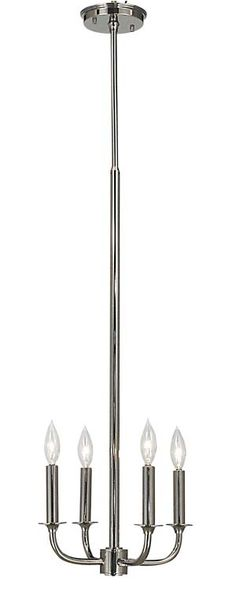 """Framburg - Moderne #1063.  Shown in Polished Silver.  Available in any Framburg Metal Finish.  12""""W x 11""""H x 31-47""""Extension"""