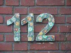 gemozaïekt huisnummer 2009