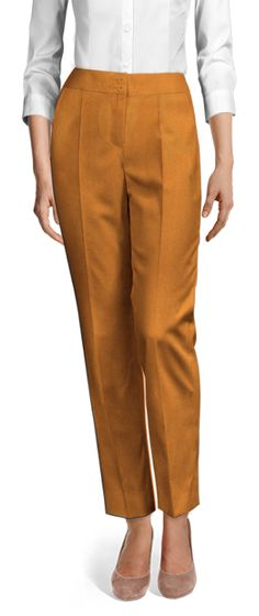 Design your Custom Made to Measure womens dress pants at Sumissura. High waist or normal, Pleated, slim fit or wide-leg, wool or linen pants. Discover the luxury of Made to Measure at an Affordable price Ankle Length Pants, Linen Pants, Dress Pants, Custom Made, Capri Pants, Slim, Legs, Fitness, Cotton