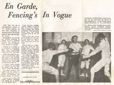 Magazine article on Maître Rohdes and his school. Magazine Articles, Fencing, Traditional, School, Guns, Fences