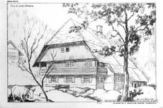 Paisajes para dibujar a lapiz a color imagui dibujo - Paisajes de casas de campo ...