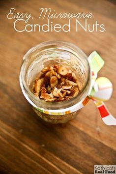 Easy microwave candied nuts via @katheats - what a good idea!