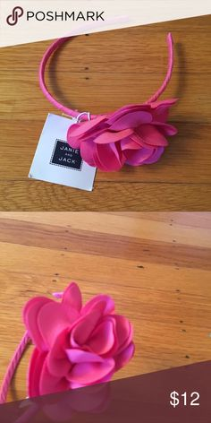 Pink flower headband Bright hot pink flower headband.  So cute with a dress or outfit from my closet! Janie and Jack Accessories Hair Accessories