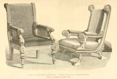 img/dessins meubles mobilier/fauteuil style renaissance - fauteuil style gothique.jpg