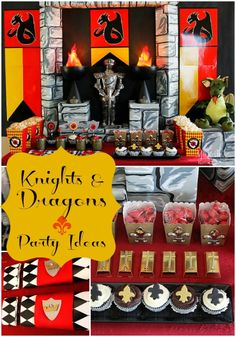 Knights and Dragons Boy's Birthday Party - Spaceships and Laser Beams  (substitute a CTR shield)