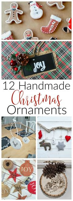 Get crafting this holiday season with these 12 easy handmade Christmas ornaments. There's inspiration for everyone's tree!