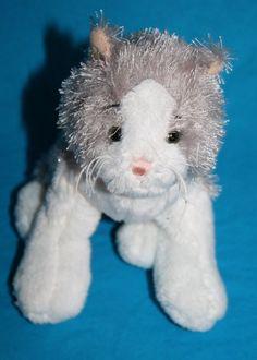 "Webkinz plush cat Lil' Kinz HS015 Grey White gray stuffed animal Ganz 6"" little #Webkinz"