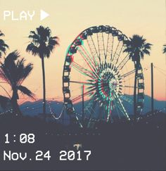 M O O N V E I N S 1 0 1 #vhs #ferriswheel #palm #aesthetic