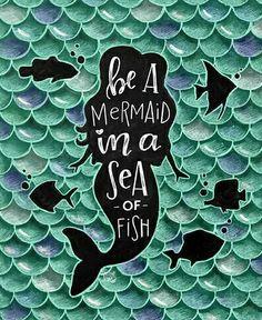 Mermaid Art Print Mermaid Print Mermaid Decor Be A Mermaid Vintage Mermaid, Mermaid Art, Mermaid Prints, Mermaid Paintings, Mermaid Tails, Fantasy Mermaids, Real Mermaids, Chalkboard Print, Dengeki Daisy