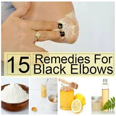 Dark elbows - The buildup of thick and dead skin formed by the friction or pressure in elbows or knees or in ankles causes the skin to turn black Leaning onto the table using the elbows or kneeling down while you Beauty Secrets, Beauty Hacks, Beauty Products, Beauty Stuff, Dark Elbows, Look Dark, Black Knees, Tips Belleza, Skin Brightening