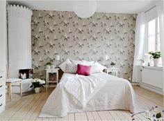 Bedrrom with lilacs, clay colorway. Scandinavian Apartment, Scandinavian Style, Residential Architecture, Lighting Design, Tiles, Design Inspiration, Juni, Interior Design, Bedroom Ideas