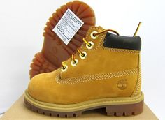 "New Baby Timberland 6"" Waterproof Premium Wheat Boot 12809 Toddlers 