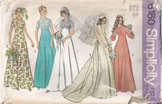 Plus Size 18 Wedding Dress Vintage Sewing Pattern 1973 by Rosie247, $4.00
