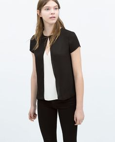 Image 2 of GAUZY DOUBLE LAYER TOP from Zara