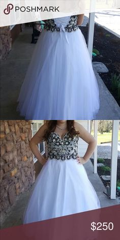 Prom dress Size 14 but has corset back so can be adjusted to fit bigger or smaller :) price is negotiable! Dresses Prom