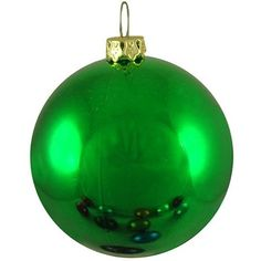 250mm Shiny Green ball ornament with wire