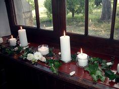 Chapel window candles