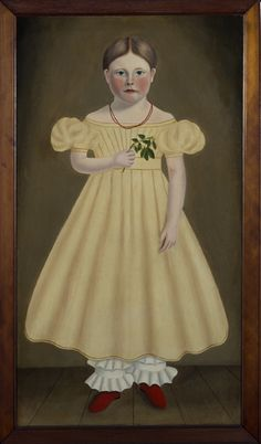 """""""Sophia Dickinson,"""" 1832 by Nelson Cook (Sophia died in 1832 at the young age of 4) One of Nelson Cook's Canadian portraits"""