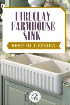 Learn more about Pros, Cons Double Farmhouse Sink, Fireclay Farmhouse Sink, White Farmhouse Kitchens, Fireclay Sink, Farmhouse Sink Kitchen, Cottage Kitchens, Vintage Farmhouse, Farmhouse Style, Shaws Sinks