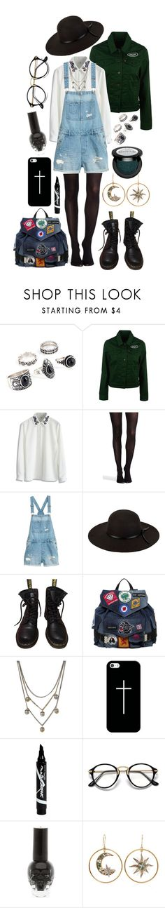 """""""Have You Ever Been Happy?"""" by xxx-marshmallow-of-death-xxx ❤ liked on Polyvore featuring Levi's, Chicwish, SPANX, San Diego Hat Co., Dr. Martens, Dsquared2, Alexander McQueen, Casetify, Maybelline and Hot Topic"""