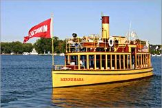 Places to see in Minnesota before you die:  The steamboat Minnehaha on Lake Minnetonka.