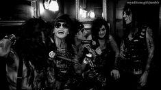 Black Veil Brides can be adorable while wearing scary makeup, i love them so much