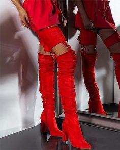 7c8b8b6392 Rihanna Flock Boots. Thigh High BootsHigh Heel ...