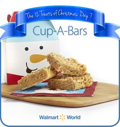 "On the seventh day of #Christmas, my fellow associate gave to me … Cup-A-Bars! ""This recipe was handed down to me by my mother. It was a treat we would get if we were good … It is a very simple, delicious, inexpensive #treat,"" says June C. of  Store 544 in Oklahoma City, Okla. #12DaysOfChristmasTreats #dessert #recipes"