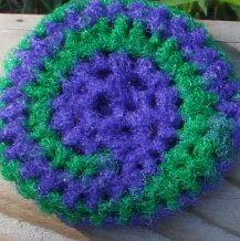 nylon netting pot scrubber (crochet)